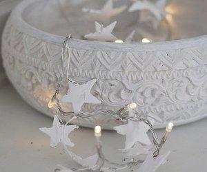 white, stars, and christmas image