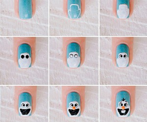 diy, frozen, and nails image