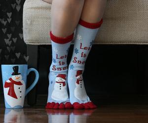 christmas, socks, and snow image