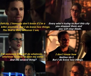 arrow, cry, and Felicity image