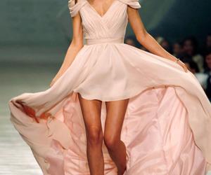 dress, runway, and fashion image