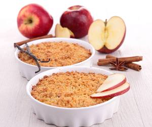 apple, cake, and crumble image