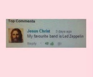 grunge, jesus christ, and led zeppelin image