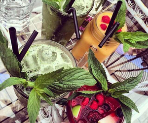 drinks, fruity, and mint image