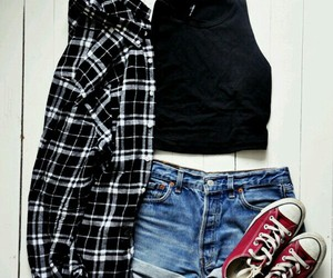 all star, girly, and jeans image