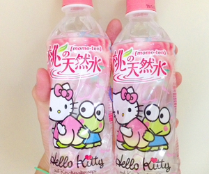 drink and hello kitty image