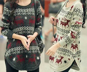 christmas, fashion, and sweater image