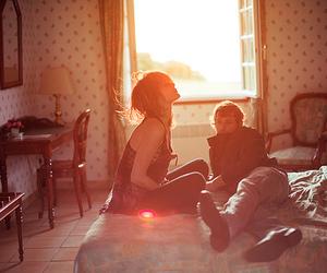 couple, boy, and sun image