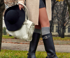 blogger, blonde, and boots image