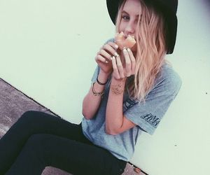 girl and donuts image