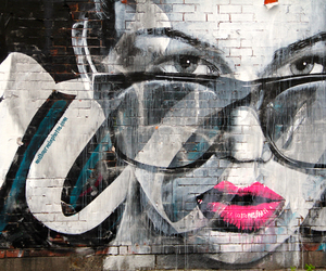 colour, girl, and glasses image