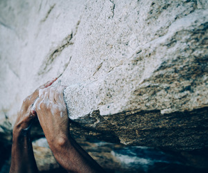 adventure, hands, and rock climb image