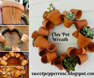 clay pot wreath image