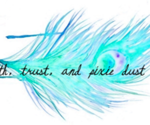 faith, trust, and feather image