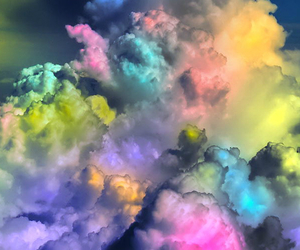clouds, bae, and colors image