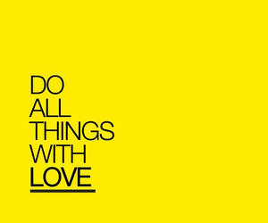 yellow, love, and quote image
