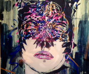 color, girl, and street art image