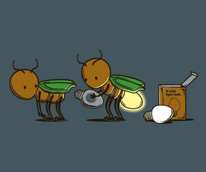 art, fireflies, and funny image