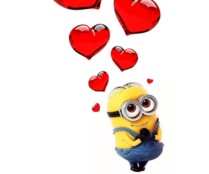 heart, minions, and love image