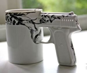 gun, cup, and mug image