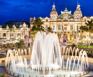 casino, fountain, and monaco image