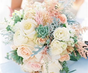 dahlias, astilbe, and pastels image