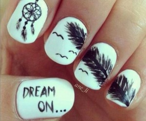 birds, nails, and dreamcatcher image