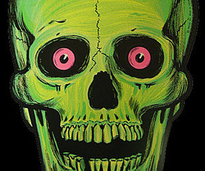 skull and green image