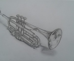 drawing, instruments, and love music image
