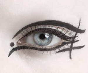 eye, pale, and makeup image