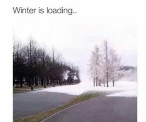 winter, loading, and snow image