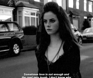 skins, Effy, and black and white image
