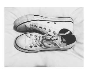 black and white, photography, and converse image