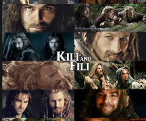 handsom, hobbit, and fili and kili image