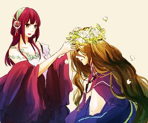 anime, kamigami no asobi, and couple image