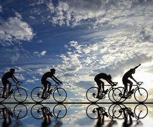 clouds, cycling, and sky image