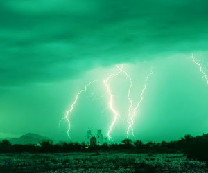 green, storm, and lightning image