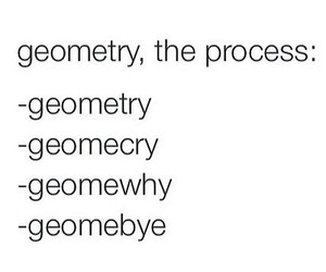geometry, funny, and quote image