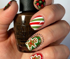 christmas, nails, and holiday image