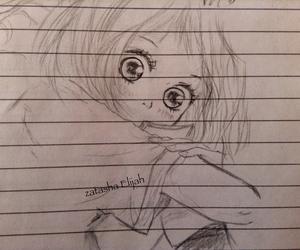 anime, drawing, and girl image
