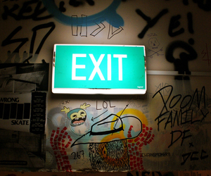 exit and grunge image