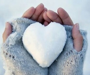 christmas, heart, and snowball image