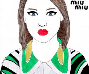 fashion, green, and miu miu image