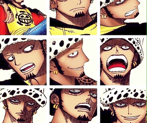anime, one piece, and trafalgar law image