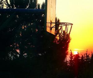 Basketball, school, and sun image