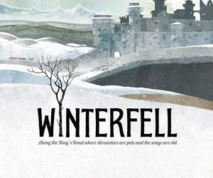 game of thrones, winterfell, and stark image