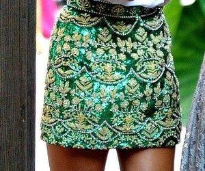 fashion, skirt, and green image