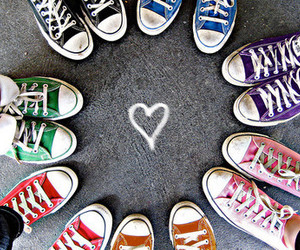 converse, shoes, and heart image