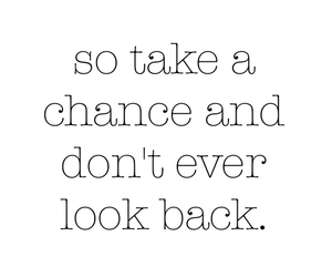look back, never, and quote image