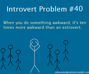 introvert and problem image